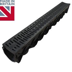 Details about Drain Channel Drainage Plastic PVC Gutter Water Rain Driveway  Trendy Grate 1m