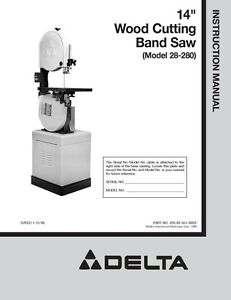 delta band saw manual