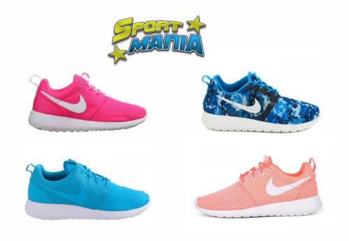 Rosherun Bleu Femmes Baskets Nike Chaussures De Sport Maille Rose Orange Hommes D9EI2H