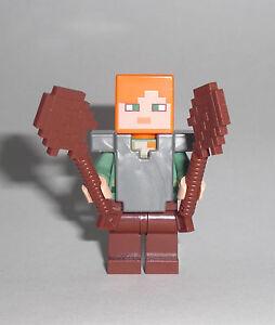 LEGO Minecraft Alex Figur Minifig Steve Hexenhaus Witch - Minecraft hexenhauser