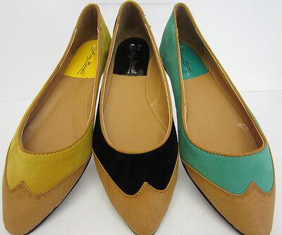Anne Michelle l4934 Damen Flach Bequeme Schuhe grün, schwarz,gelb UK 3-8 (R15B)