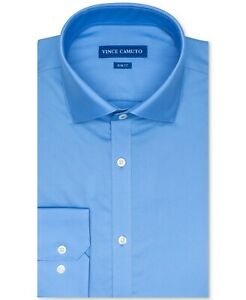 Vince Camuto Mens Slim Fit Spread Collar Solid Dress Shirt