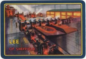 Playing-Cards-Single-Card-Old-Wide-LEE-Sheffield-STEELWORKS-Steel-Advertising-2