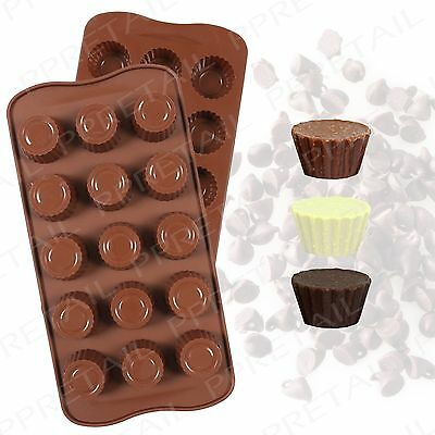 Silicone Chocolate Mould +ROUND+Cake Decorating Sugar Craft Ice Cube/Jelly Tray