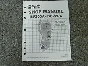 honda model bf200a bf225a outboard motor shop service repair rh ebay com Parts Manual Customer Service Books