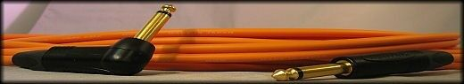 "UpScale Canare GS-6 Guitar Bass Cable 1 4"" TS to 1 4"" TSRA -Orange 20FT"