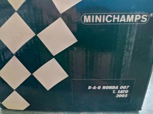 "Minichamps 1//18 Bar Honda 007 Takuma Sato 2005 /""chino GP 555/"""