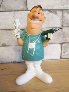 Zahnarzt-mit-Bohrer-Dentist-Funny-Beruf-Figur-Profession-19-cm-Neu