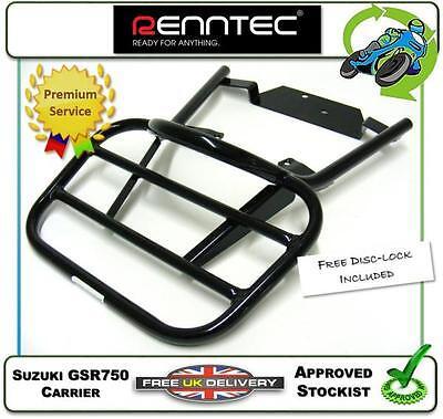 NEW RENNTEC CARRIER LUGGAGE RACK IN BLACK TO FIT THE SUZUKI GSR750 GSR 750