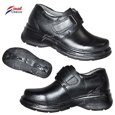 Uniforme Escolar Niños Infantes Niños Chicos Zapatos botas de cuero de vaca tamaños Reino Unido
