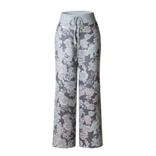 Womens Plus Size Loose Floral Yoga Palazzo Trousers Casual Wide Leg Long Pants