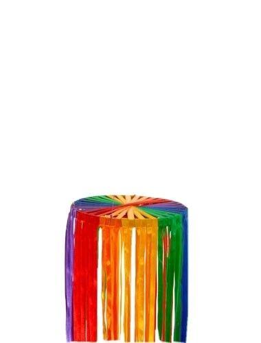 RAINBOW WIND SPINNER MOBILE multi coloured ribbons fair trade handmade 80cm NEW!