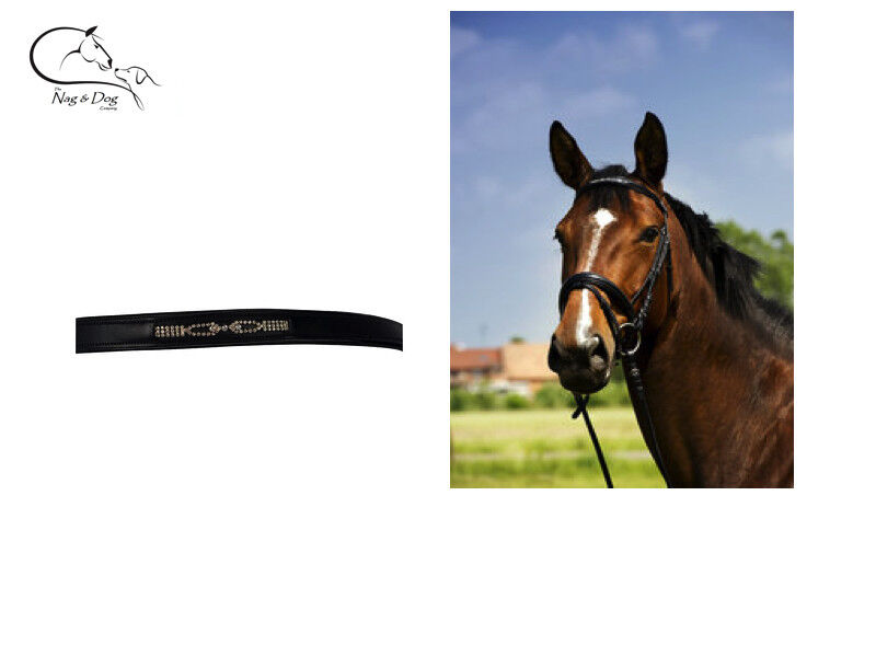 Comfort Padded Bridle Diamante Browband Rubber Reins All Sizes FREE DELIVERY