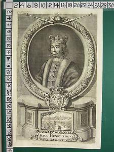 C1774 Georgiano Stampa ~ King Henry The VI
