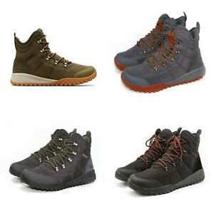 Columbia Men's Outdoor Trail Boots Fairbanks Omni-Heat Lace Up Hiking Shoes