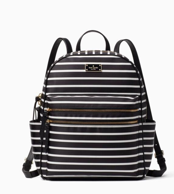f6b8b49c8b62e Kate Spade Wilson Road French Stripe Bradley Large Backpack Bag ...