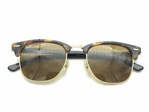 62a2d604fc Image is loading RayBan-Clubmaster-Fleck-Sunglasses-Black-Brown-Classic-G-