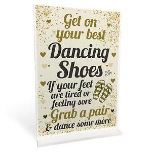 6bd87c708 FLIP FLOP BASKET Wedding Sign Dancing Shoes Standing Plaque Wedding ...