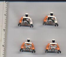 Star Wars LEGO x 4 White Torso Clone Trooper Utapau Troopers 75036