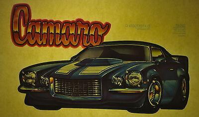 NOS Corvette flames 70s vintage retro tshirt transfer print new glitter