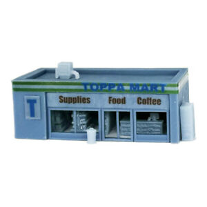 Outland Models Railway Scenery Convenience Store & Accessories 1:220 Z Gauge