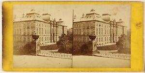 Germania-Sassonia-Dresda-Palais-Japonais-Foto-Stereo-Vintage-Albumina-Ca-1870
