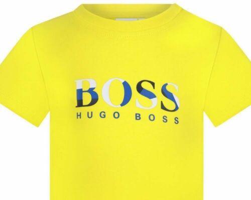 Hugo Boss Baby/'s J05756 535 Cotton Boys Cotton T-Shirt Yellow Top