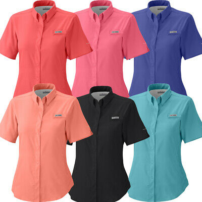 """New Womens Columbia PFG /""""Tamiami II/"""" Omni-Shade Wick Vented Fishing Shirt"""