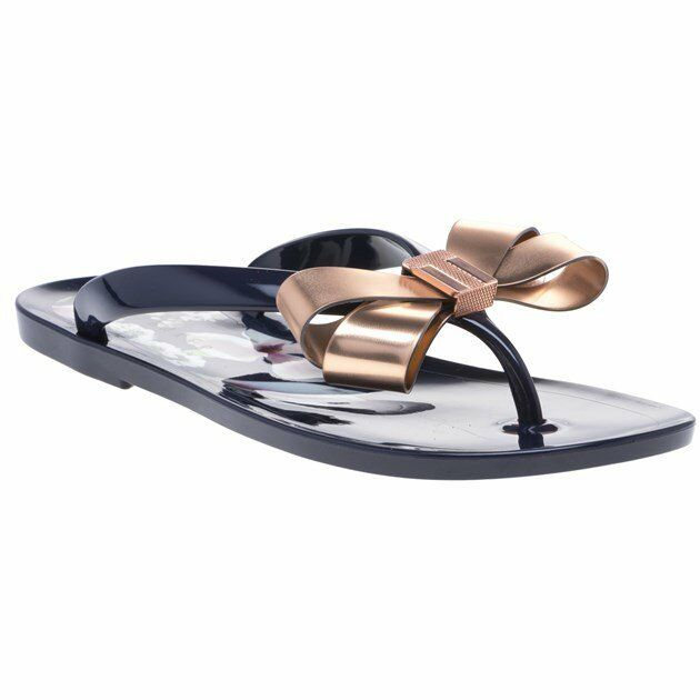 20abc4bb6 Ted Baker Izydor Womens Navy Floral Synthetic Flip Flops 5 UK for sale  online