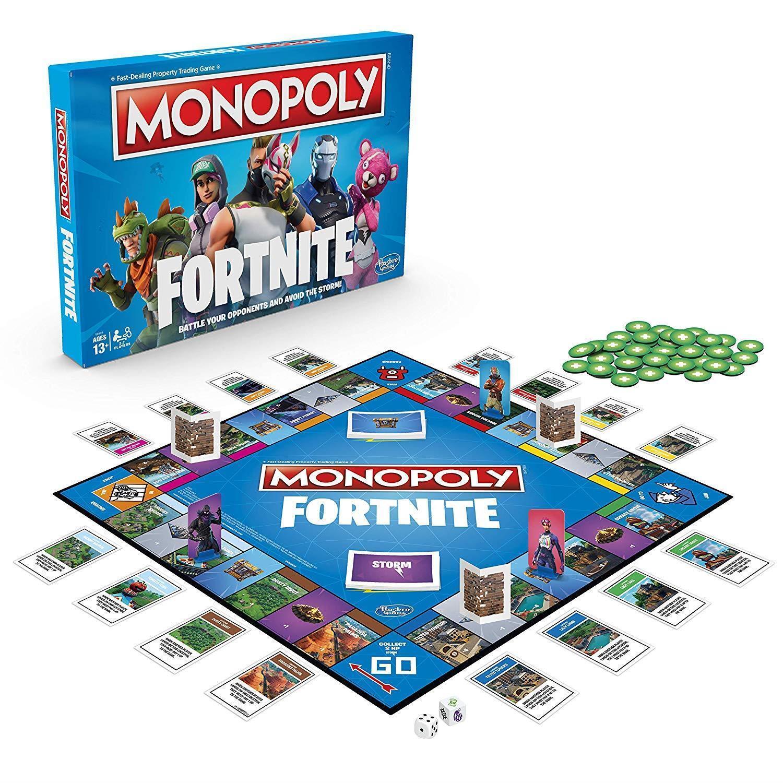 Monopoly Gioco Da Tavolo Edizione fortnite Famiglia Bambini Giocattolo Divertente Regalo Di Natale Carta Play Set