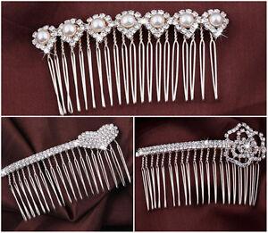 Gioielli-per-capelli-capelli-pettine-oro-strass-perle-sposa-tiara-capelli-fermaglio-nozze-diadema