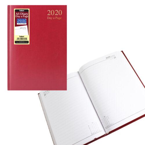 2020 Tagebuch Tag pro Seite Voll Sat // Sonne A5 Gebunden Wähle 3282