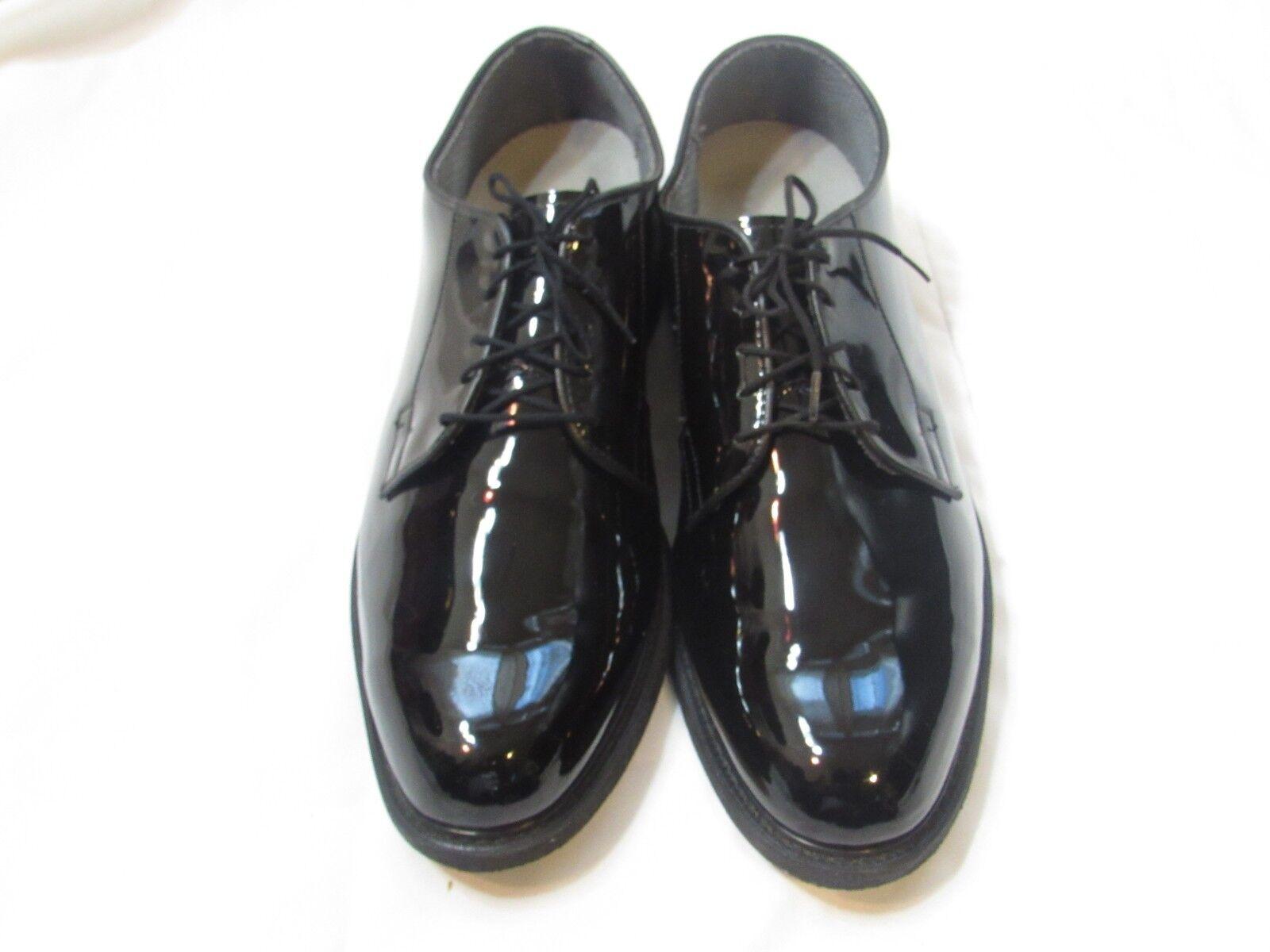 Bates Lites High Gloss Oxford Duty Dress shoes Mens 13.5 D Military Black