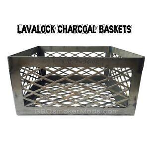 Details about LavaLock® Bar-B-Chef Offset 12 x 12 x 6 Charcoal basket coal  fire box smoker