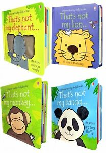 Wild-Animals-Collection-Usborne-Touchy-Feely-4-Books-Set-That-039-s-not-my-Lion-Pan