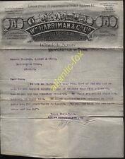 1910 NEWCASTLE, Wm. HARRIMAN & CO. , FIRECLAY GOODS MANUFACTURER, ILLUSTd LETTER