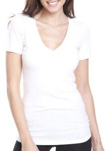 Next Level Womens Super Soft Knit Collar Deep V Neck T Shirt 6