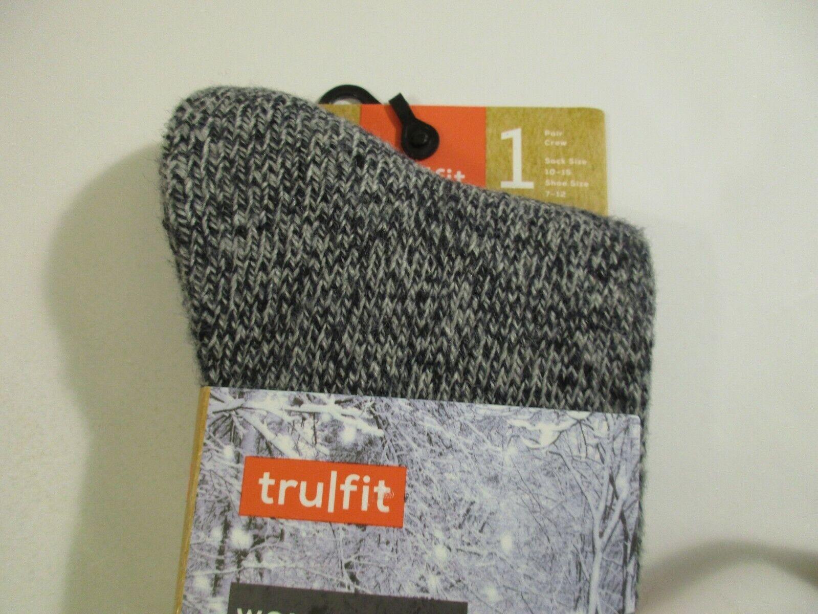 1 Pair Women/'s TRUFIT Ultra Heavy Merino Wool Wicking Socks~9-11~Shoe Size 5-10
