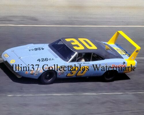 DAVE MARCIS 1969 DODGE CHARGER DAYTONA 500 NASCAR AUTO RACING 8X10 PHOTO