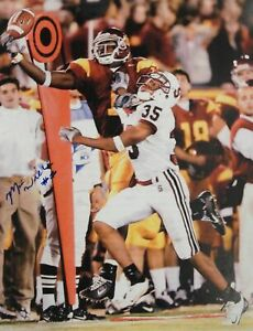 Mike-Williams-Signed-Autographed-16X20-Photograph-USC-TD-Blue-Ink-Vert