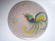 Keramik Wandteller Hahn Bad Wiessee Ib Langelot 50s WGP West-Germany Art Pottery