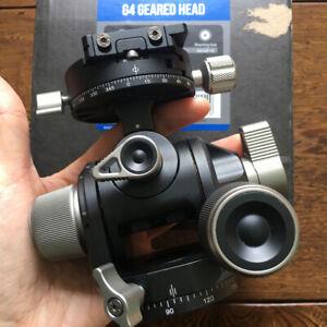 Open-Box-Leofoto-G4-Panoramic-Geared-Head-Professional-Head-Tripod-w-QR-Plate