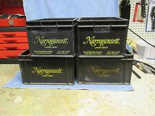 4 PLASTIC NARRAGANSETT BEER CRATES CRANSTON RHODE ISLAND
