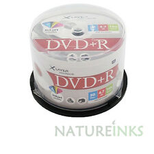 50 Xlayer DVD+R Printable White 16x Blank Discs 4.7GB  Cakebox for DVD recorder