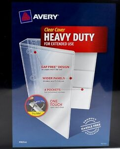 office 2 lot of avery heavy duty 4 binder clear cover slanted d