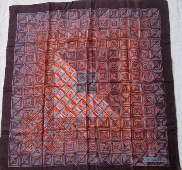 62fb6e3aef4 Joli foulard   CHRISTIAN DIOR   vintage soie scarf - 80 cm x 80 cm