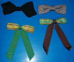 Vintage-Bow-Tie-Lot-4-Colonel-Clip-On-Western-30s-40s-50s