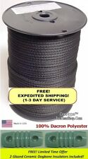 """500' 3/16"""" 100% Dacron Polyester Antenna Support Rope, Dipole Inverted V, L Wire"""