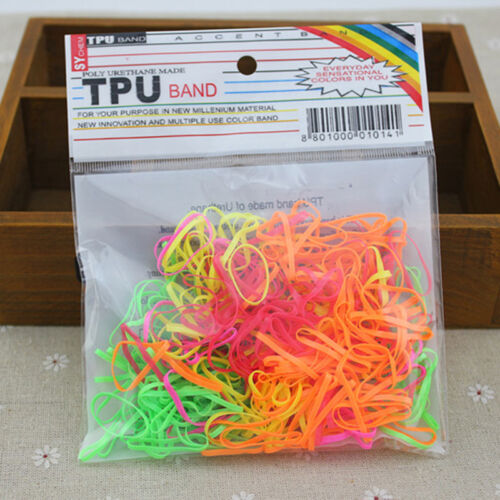 Rubber Hairband Seil Pferdeschwanz Inhaber Elastisches Haarband Krawatten Braids