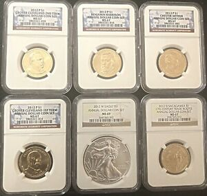 2012-ANNUAL-DOLLAR-COIN-SET-6-COIN-SET-AS-PICTURED-AWESOME